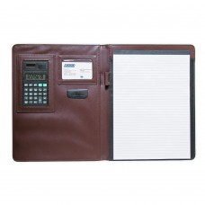 Folder with calculator and block