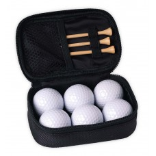 Case with 6 golf balls
