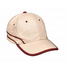 Kasba cotton cap with two stripes