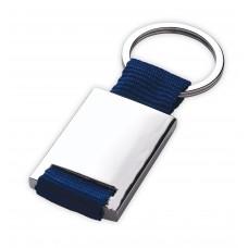 Zadar metal key ring with fabric strap