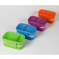 FOOD CONTAINER WITH 2 COMPARTMENTS