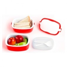 Plastic containers with cutlery
