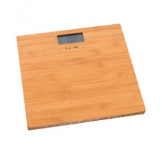 Digital scale with bamboo base